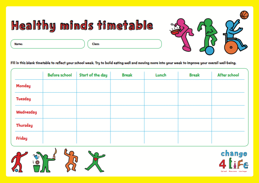 Our Healthy Year: Year 6 classroom activity sheets | PHE ...