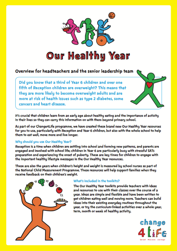 Our Healthy Year: headteacher resources