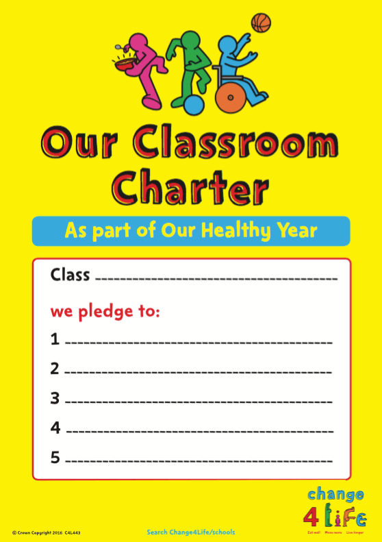 Our Healthy Year: classroom charter poster