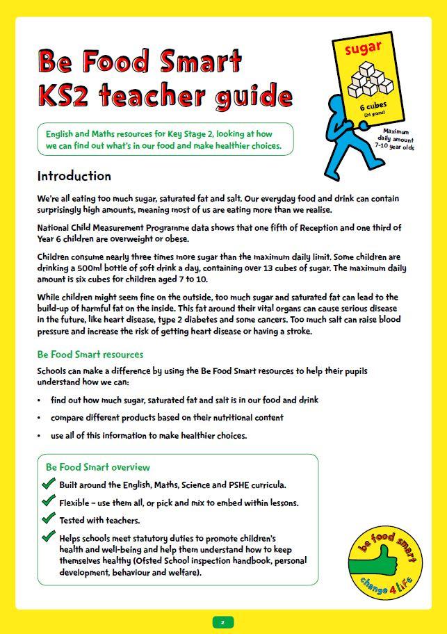 Be Food Smart: KS2 toolkit