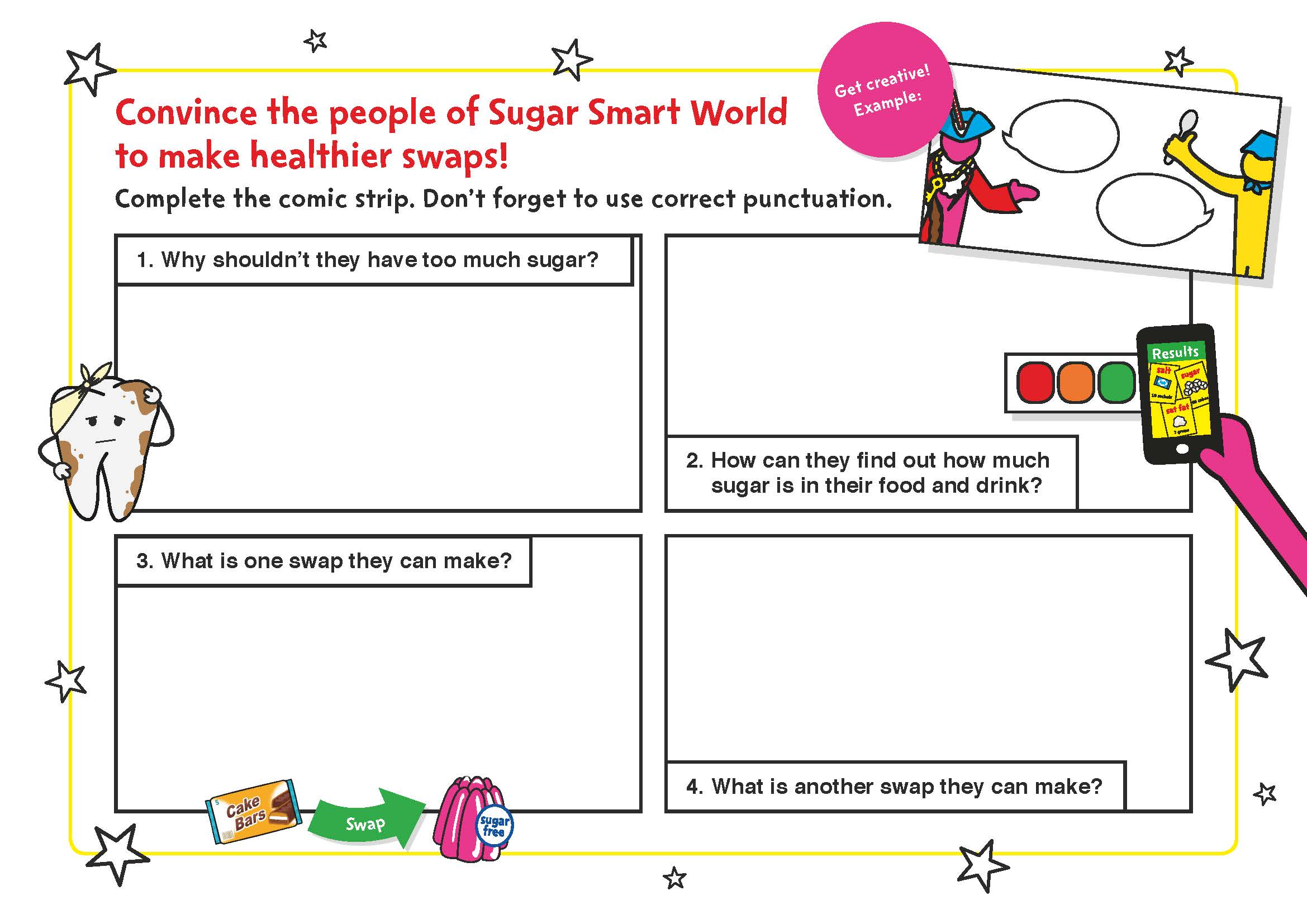 Sugar Smart World – Lower KS2 English worksheet