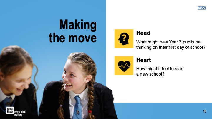 Transition to a new secondary school lesson plan