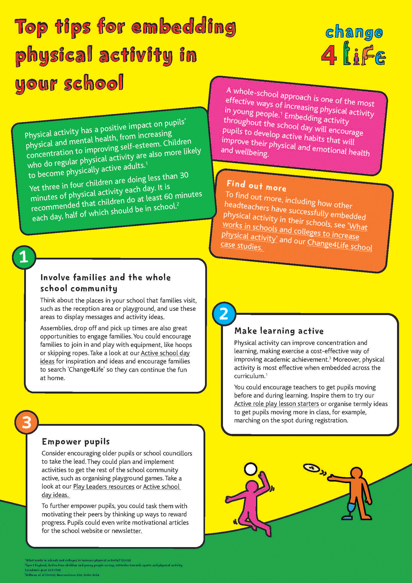 Top tips for embedding physical activity in your whole