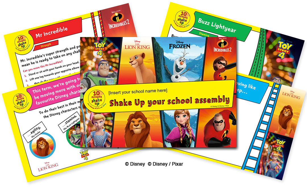 Disney themed physical activity resources