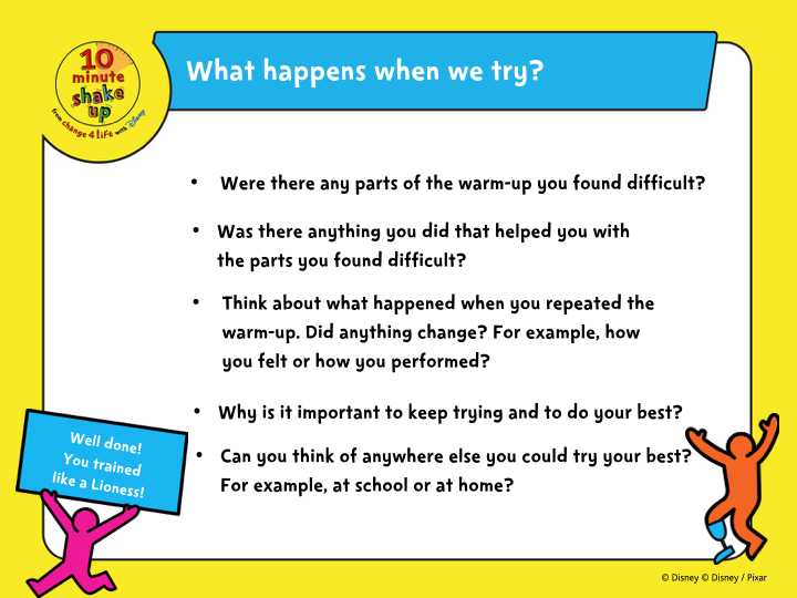 Shake Up your school - Try your best lesson starter