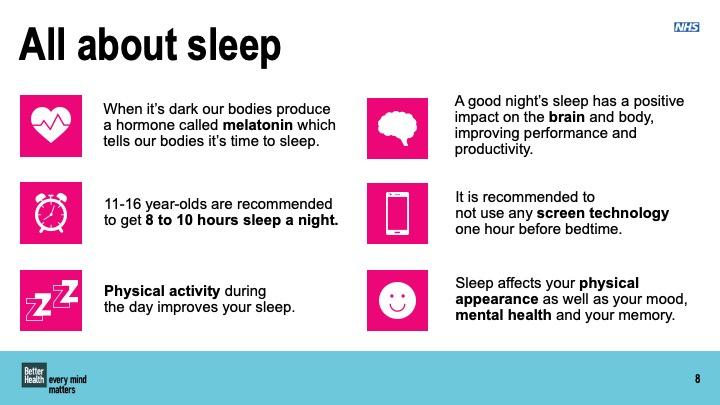 Sleep KS 3 and 4 lesson plan