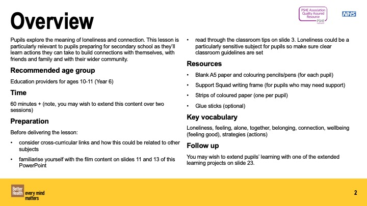 Building Connections Year 6 lesson plan