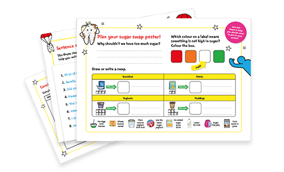 KS1 and KS2 English worksheets – Sugar Smart World