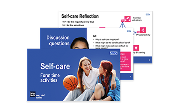Self-care - KS3 and KS4 form time activities