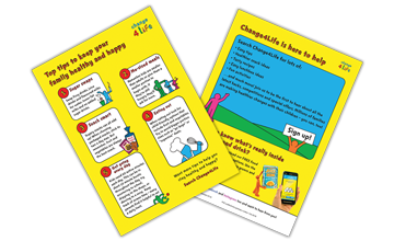 Top tips to keep your family healthy and happy leaflet