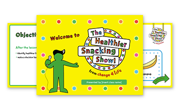 The Healthier Snacking Show: Reception PowerPoint