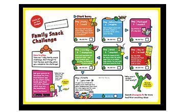 Family snack challenge leaflet